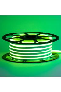 Лента неоновая зеленая 12V AVT-smd2835 120LED/m 6В/mт 6x12мм IP65 силикон