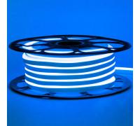 Лента неоновая синяя 12V AVT-smd2835 120LED/m 6В/mт 6x12мм IP65 силикон