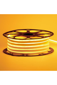 Лента неоновая желтая 12V AVT-smd2835 120LED/m 6В/mт 6x12мм IP65 силикон