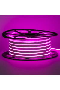 Лента неоновая розовая 12V AVT-smd2835 120LED/m 6В/mт 6x12мм IP65 силикон