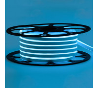 Неоновая светодиодная лента голубая 12V AVT 120LED/m 6W/m 6*12 IP65 silicone, 1м