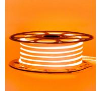 Неоновая светодиодная лента оранж 12V AVT 120LED/m 6W/m 6*12 IP65 silicone, 1м