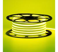Лента неоновая лимонная 12V AVT-smd2835 120LED/m 6В/mт 6x12мм IP65 силикон