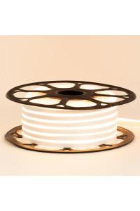 Лента неоновая белая теплая 12V smd2835 120лед 6Вт 8*16 PVC герметичная