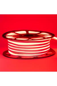 Лента неоновая красная 12V smd2835 120лед 6Вт 8*16 PVC герметичная