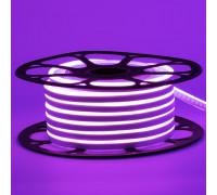 Led неон фиолетовый 12V smd2835 120LED/m 6Вт/m 8х16мм pvc IP65, 1м