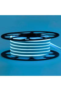 Лента неоновая голубая 12V smd2835 120лед 6Вт 8*16 PVC герметичная