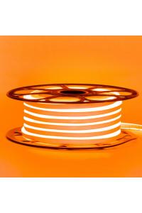 Лента неоновая оранжевая 12V smd2835 120лед 6Вт 8*16 PVC герметичная