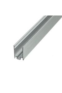 Профиль алюминиевый накладной глубокий 12мм без покрытия 2М (+ матовый розсеиватель)