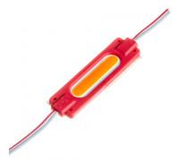 Светодиодный кластер СОВ 12В красный 1led 2Вт овал герметичный
