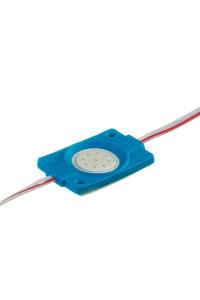 Светодиодный кластер 12В синий 1led СОВ круглый 2,4Вт герметичный