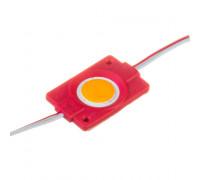 Светодиодный модуль   красный 12V СОВ круглый 1LED 2,4W IP65