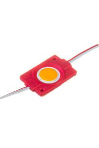 Светодиодный кластер 12В красный 1led СОВ круглый 2,4Вт герметичный