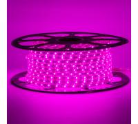 Лента светодиодная фиолетовая 220V smd2835 48лед 6Вт герметичная, 1м