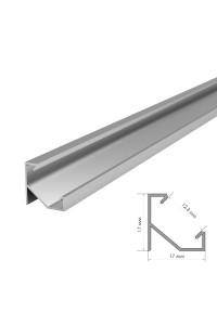 Профиль светодиодный угловой ПФ-20/1 без покрытия с полумат.рассеивателем (комплект) 2м