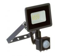 LED прожектор уличный с датчиком движения AVT 10Вт 6000К герметичный