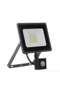 LED прожектор уличный с датчиком движения AVT 30Вт 6000К герметичный
