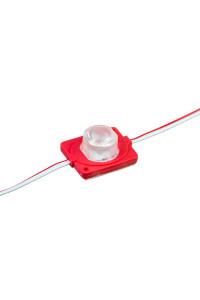 Светодиодный инжекторный кластер 12В красный 1led smd3030 1.5Вт герметичный