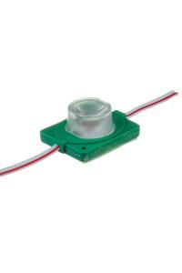Светодиодный инжекторный кластер 12В зеленый 1led smd3030 1.5Вт герметичный
