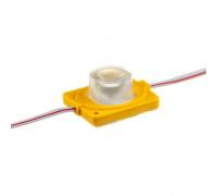 Светодиодный инжекторный кластер 12В желтый 1led smd3030 1.5Вт герметичный