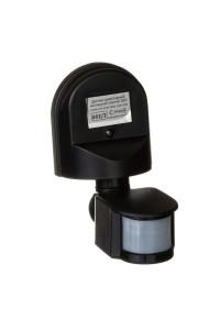 Датчик движения арматурный накладной черный 1200Вт 180 град.